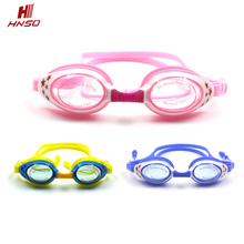 Promotional funny anti-fog safety swimming goggles with earplugs