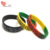 custom colorful rainbow silicone wristband