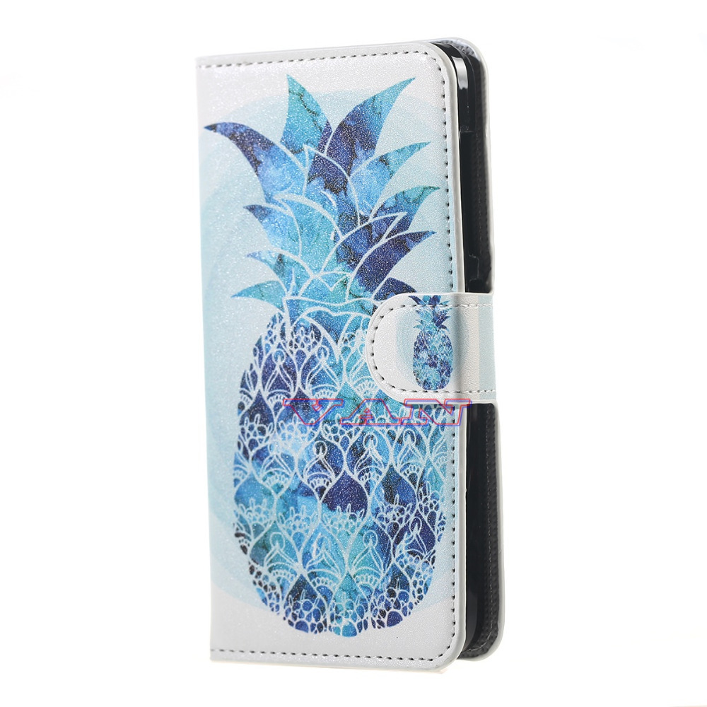 blue pineapple luxury protector leather case for Acer Liquid Z520 android phone cases for Acer Liquid Z520 case battery cover