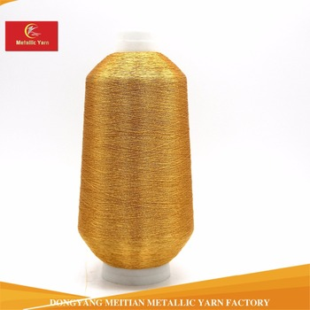 St Type Metallic Yarn Kr Gold Embroidery Thread With Good Quality