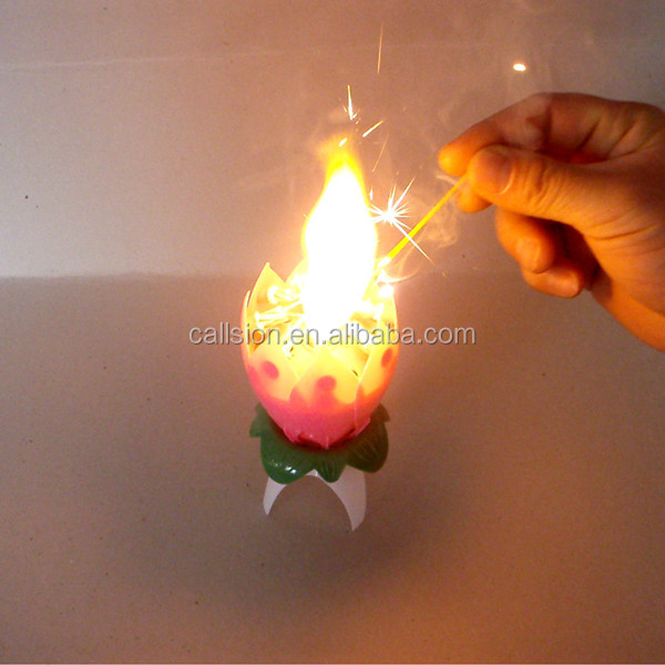 Top selling nature multi color warm hearted fancy birthday cake candles