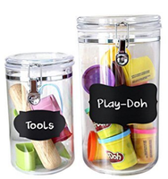 5*3.5cm Vinyl Removable and Erasable Chalkboard Labels for Mason Jars With Chalk Pen