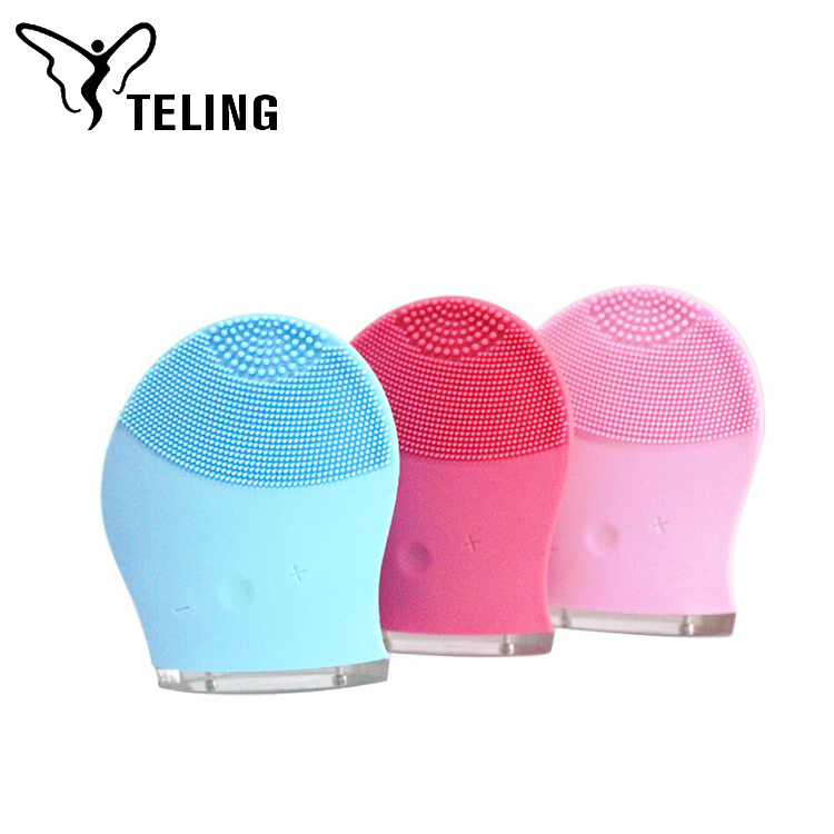 USB rechargeable electric facial pore silicone facial cleanser
