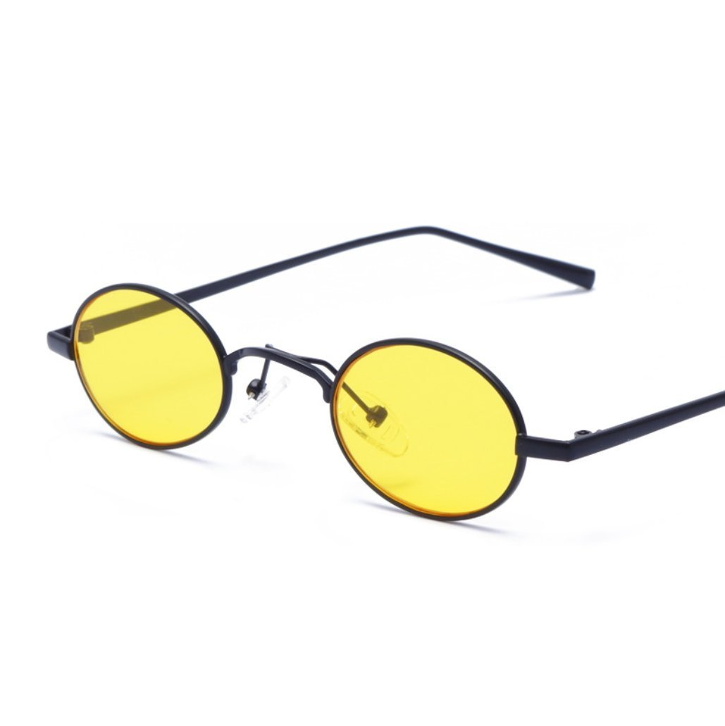 CUIYAN Retro Personality Square Sunglasses Europe and America Color Glasses New Metal Sunglasses (Color : 3)