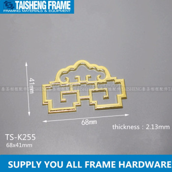 tsk255 middle size metal chinese antique frame art wall hanger photo frame accessories picture frame fixing plate 68x41mm