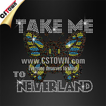 TAKE ME TO NEVERLAND Transfert Thermocollant Strass