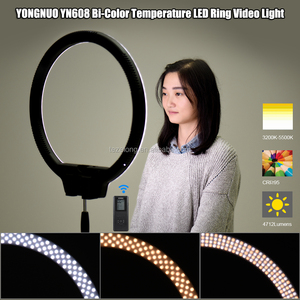 YN608 RGB SMD and LED lamp beads integrated LED Video Light with Bi-Color Photography LED Light for Canon Nikon Sony