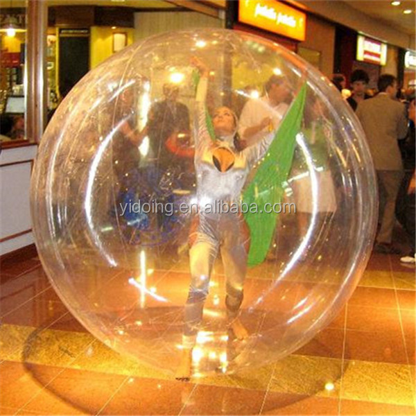 High quality clear TPU water ball, giant TPU bubble ball for show D1003-4D