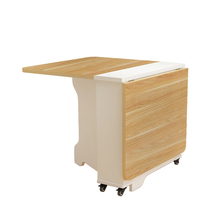 Gcon new design wooden aluminium foldable dinning table with storage function