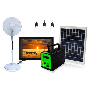 The Most Popular High Quality AC/DC Solar Fan,Solar TV And Solar FM Radio Home Solar Panel Kit For No-Electricity Areas Home