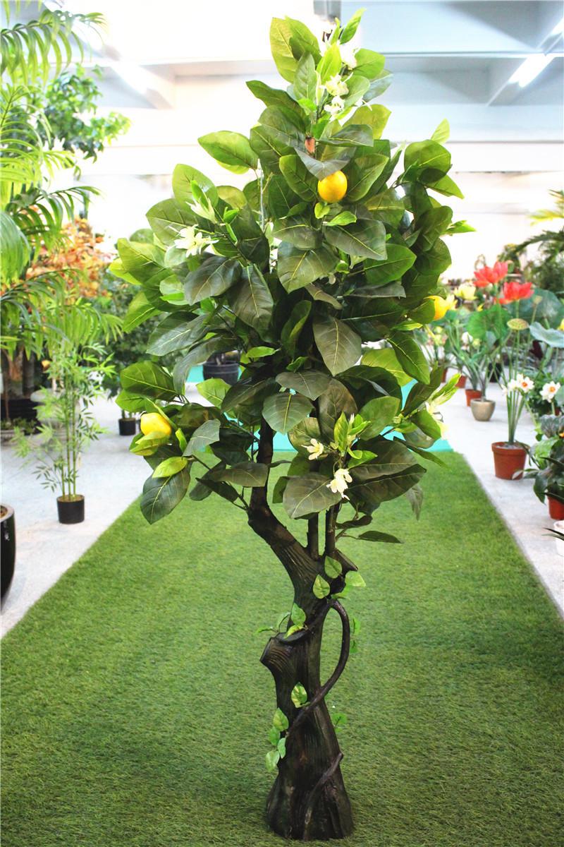 innen hausgarten dekorative 2m höhe künstliche holz zitrone bonsai