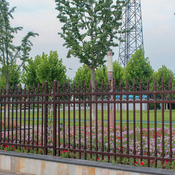 High Performance Welding Embly Reasonable Price Brown Powder Coated Wrought Iron Fence