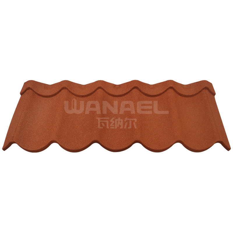 Modern Wanael colorful sand coated roof tile sheet metal price/natural stone tiles/building <strong>materials</strong> guangzhou