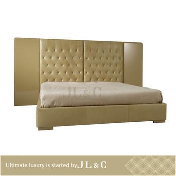 2015 Shanghai Jl&c Furniture New Design Sleigh Beds Luxury Bedroom ...