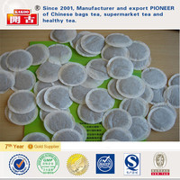 OEM round heat-seal filter paper tea bags