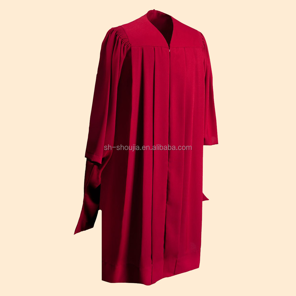 black graduation gown/robe for high school/university/Master/Doctor ...