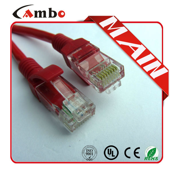 CE,UL,TIA/EIA Certified Patch Cord Cable RJ45 Cat 5 Male to Female Molded Plugs