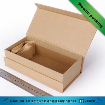 Wowbo Rigid Foldable Craft Paper Box Template/book Shape Kraft Box ...