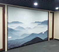 Restaurant hotel bedroom eco friendly 3 d wall panel