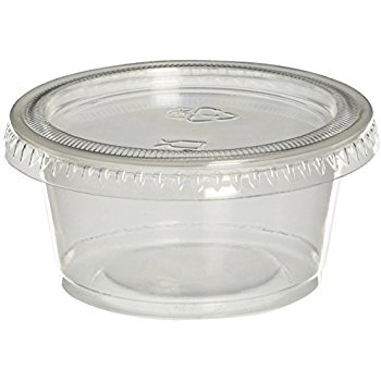 Mr. Miracle Jello Shot Souffle Cups and Lids, 1.5 Ounce, Translucent (125)