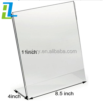 Tabletop Acrylic Menu Stand/display,Acrylic Table Number