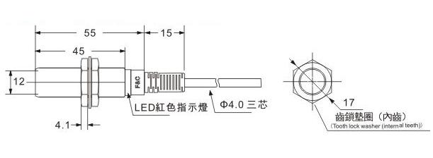 f3c pnp no  nc ofrecido 3 hilos sensor de