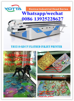 3020 size acrylic, glass,ceramic tile digital large format inkjet LED flatbed uv printer price