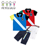 Guangzhou Children Polo Clothing Sets 100% Cotton Kids Summer Wear