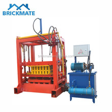 Low cost QT4-30 small scale manual hydraulic brick making machine price