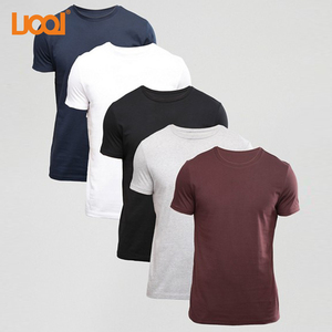 Oem Factory High Quality 100% Cotton 180g Custom Black Blank Men