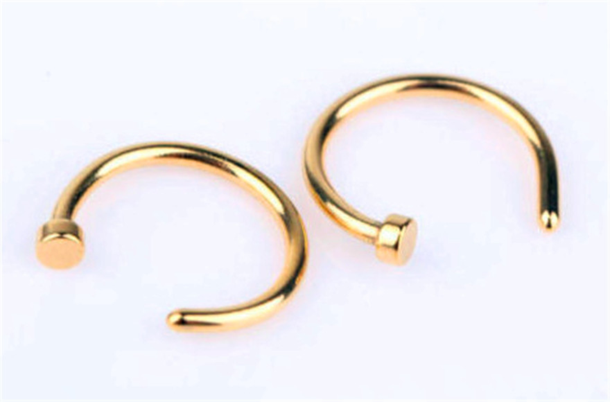 stainless steel casting Nose septum piercing ring
