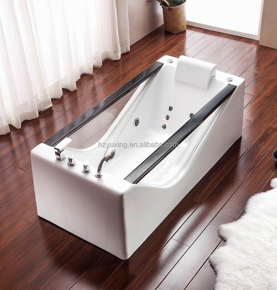 hei er verkauf freistehende glas badewanne mit jacuzy. Black Bedroom Furniture Sets. Home Design Ideas