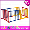 2016 best sale safety large playpen/fence wooden kids play area W08H010-J14