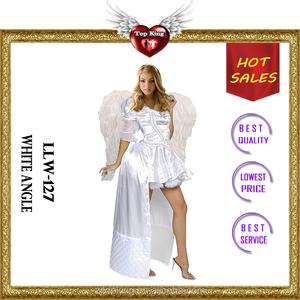 Sexy Lady Party Fancy Dress Costume Halloween White Angel Costumes for Women