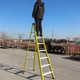 Movable fibreglass ladder with 7 layers grooed steps