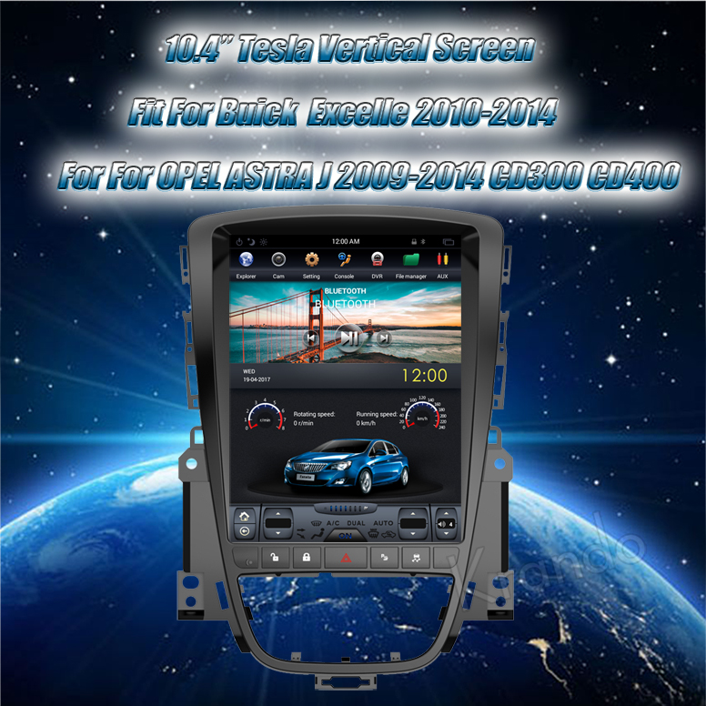 Krando 10.4 '' Vertical screen android car radio multimedia for Buick  Excelle 2010-2014 big screen navigation with gps system