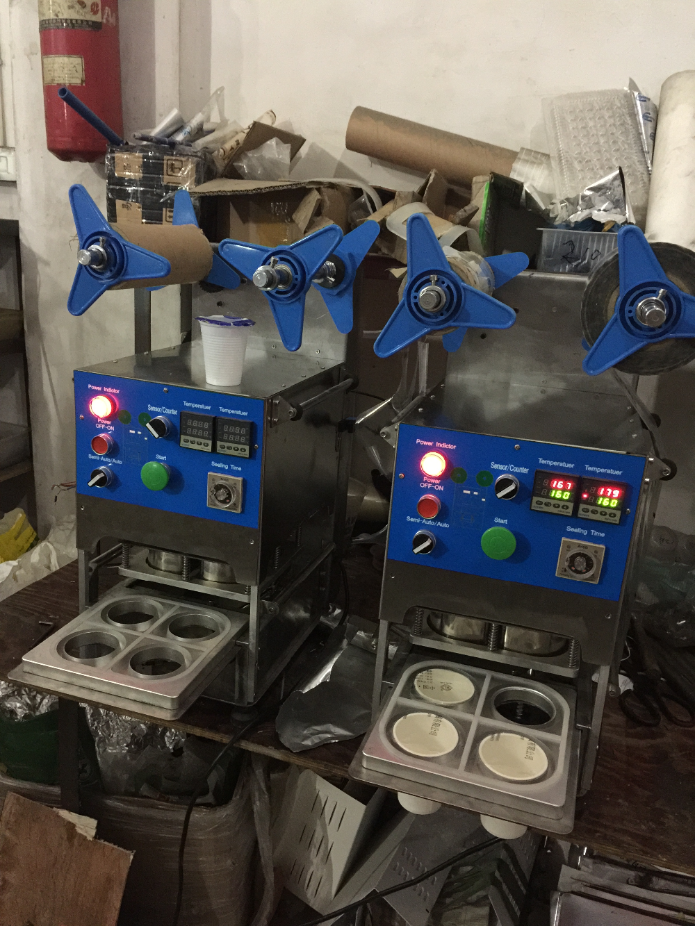Commerci 235 Le Automatische Boba Cup Sluitmachine Sealer