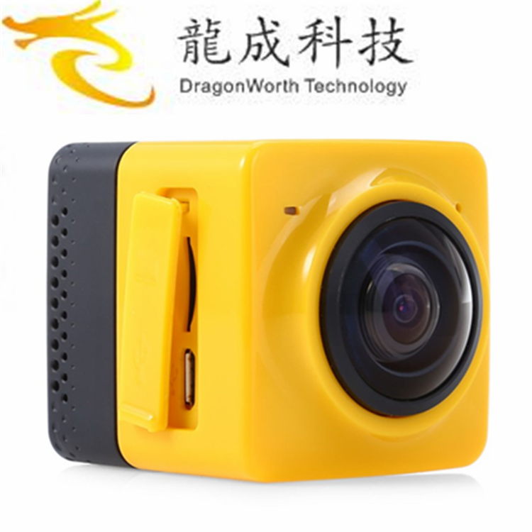 2017 high quality Excelvan 360 action Wide-Angle Video Camera 4 Black Edition Action Waterproof With Bottom Price