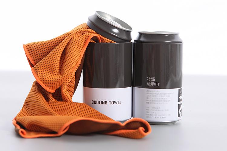 Mode logo personnalisé refroidissement serviette de gymnastique à séchage rapide microfibre serviette de sport de refroidissement avec emballé