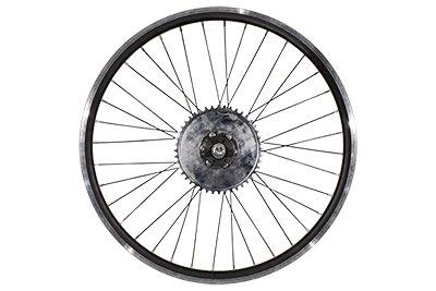 "26"" Heavy Duty Rear Bike Wheel & Freewheel Axle Kit For Motorized Bicycles - Gas Bike Engine Rim 44 Tooth Sprocket - Disc brake Rotor"