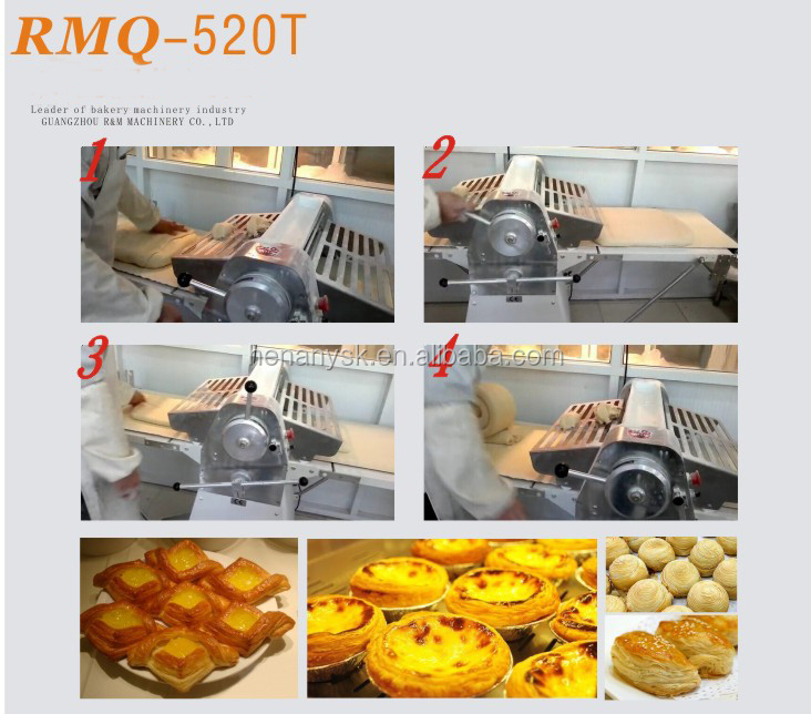 CE Electric Conveyor Belt  Table Top  Roller Dough Croissant Commercial Pastry Rolling Dough Sheeter