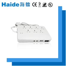 A multi-function white new patent 6-outlet surge protector