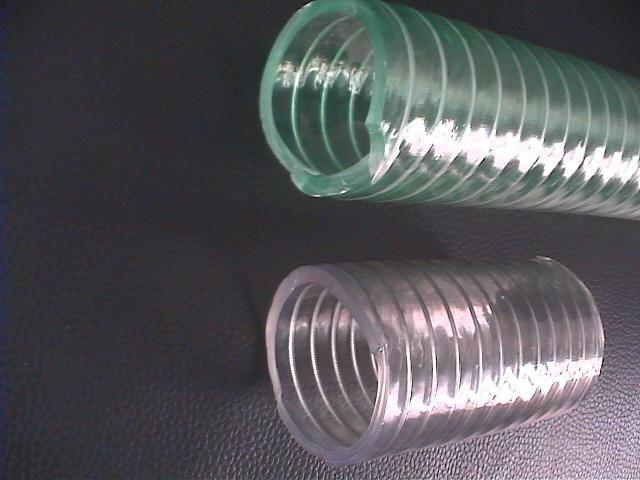 transparent clear pvc spiral steel wire reinforced pvc hose