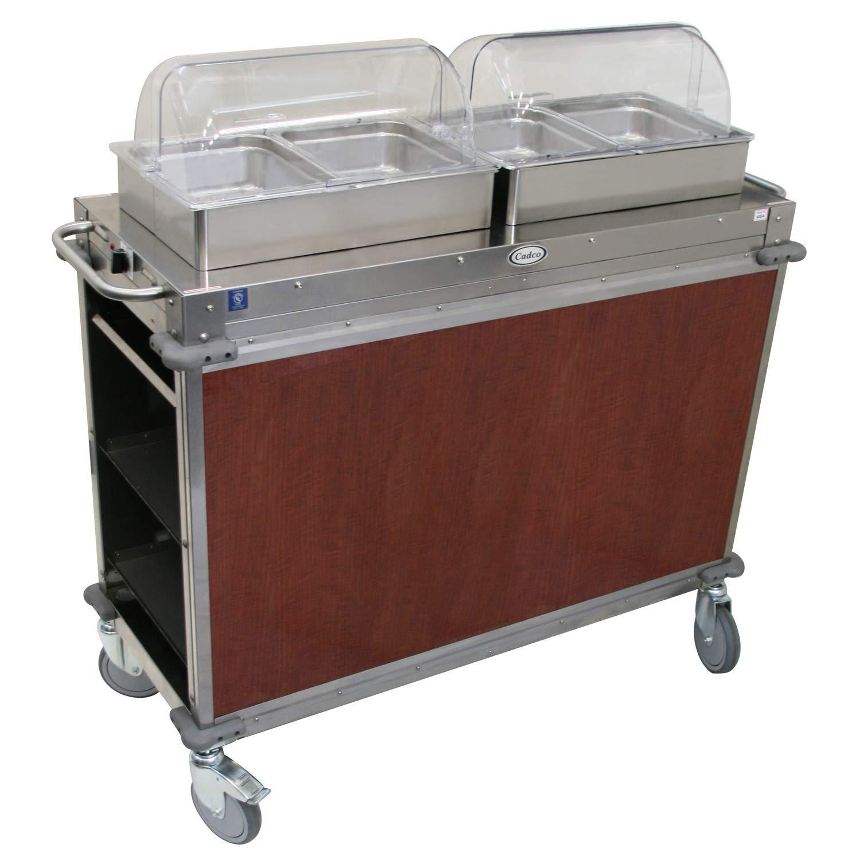 """Mobile Hot Buffet Cart Size: 51"""" H x 52.75"""" W x 20.75"""" D, Color: Versailles Cherry"""