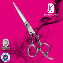 Chinese The Best Japanese SUS440C stainless convex hair scissors with WCA BSCI certificate