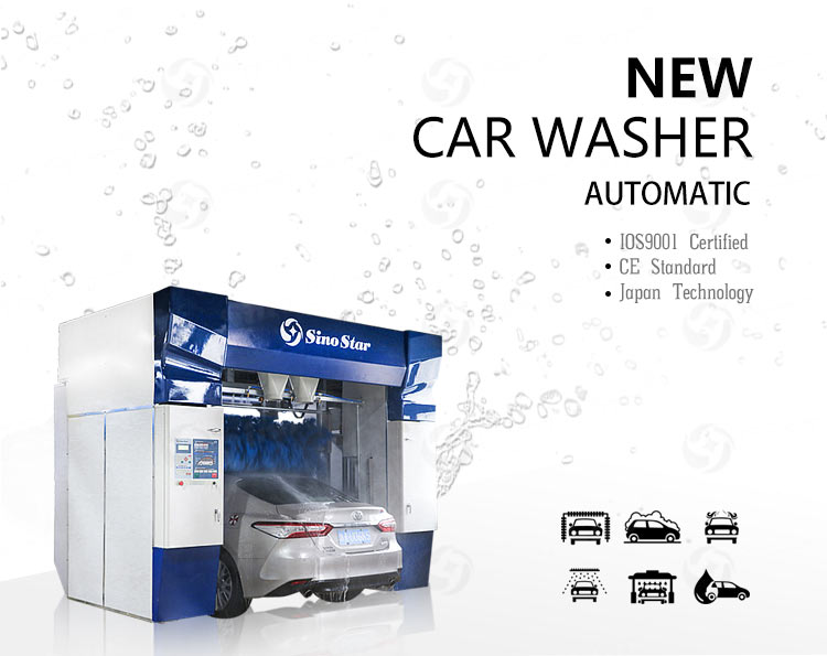 C7 Good quality Five brushes Rollover automatic car wash machine and no need engineer overseas installation price for sale