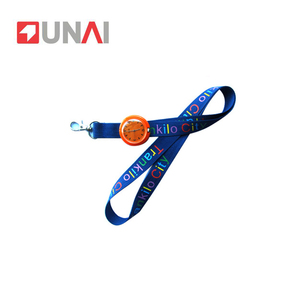 Fashion Silk Screen Nylon Printed Watch Lanyard With Logo Custom