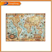 Puzzle World Map,Circle Floor Puzzle,Easy Assembled Puzzle