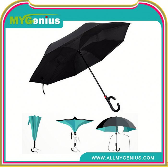 2017 hot selling inverted auto open and close fold reverse umbrella ,amd30