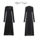 Latest abaya designs with long sleeves and add floral patters on the front abaya models dubai black abaya
